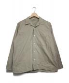 AURALEE(オーラリー)の古着「SELVEDGE WEATHER CLOTH SHIRTS」|ベージュ