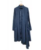 Y-3(ワイスリー)の古着「変形デザインシャツワンピース」 ネイビー