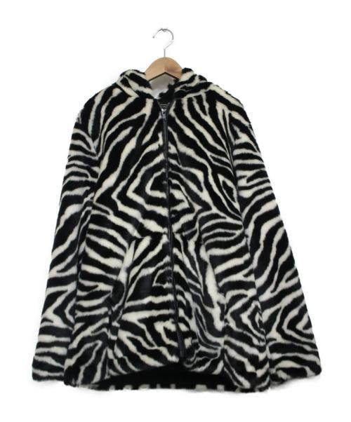 Hysteric Glamour(ヒステリックグラマー)Hysteric Glamour (ヒステリックグラマー) DAMNED刺繍フーデッドブルゾン ホワイト×ブラック サイズ:FREE ゼブラ柄の古着・服飾アイテム