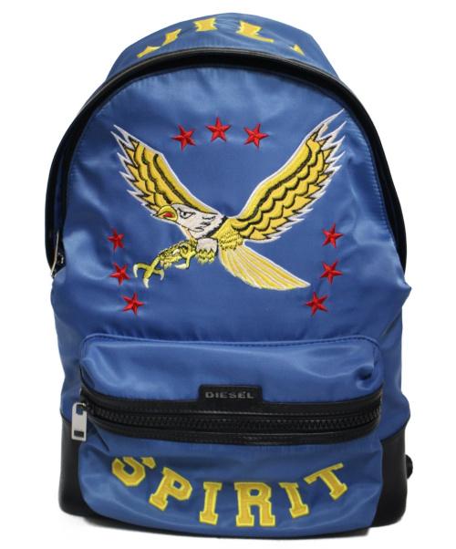 DIESEL(ディーゼル)DIESEL (ディーゼル) SPIRITバックパック ブルーの古着・服飾アイテム
