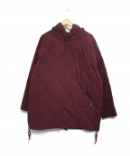 comfy(コンフィー)の古着「PULLOVER STRETCH DOWN HOODIE」 ボルドー