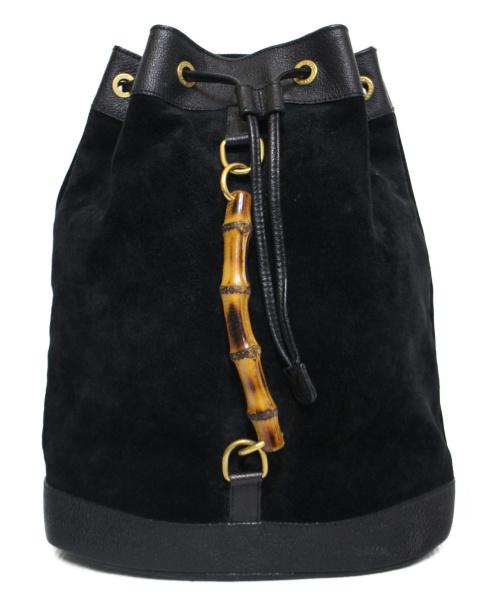 GUCCI(グッチ)GUCCI (グッチ) スウェードバンブーリュック ブラックの古着・服飾アイテム