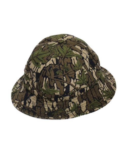 SUPREME×Levis(シュプリーム×リーバイス)SUPREME×Levis (シュプリーム×リーバイス) Camo Canvas Bell Hat オリーブ サイズ:S/M 13AWの古着・服飾アイテム