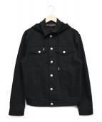 ALEXANDER McQUEEN(アレキサンダーマックィーン)の古着「フーデッドデニムジャケット」|ブラック