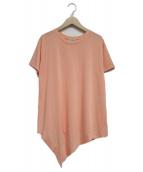()の古着「アシメントリーTシャツ」|オレンジ