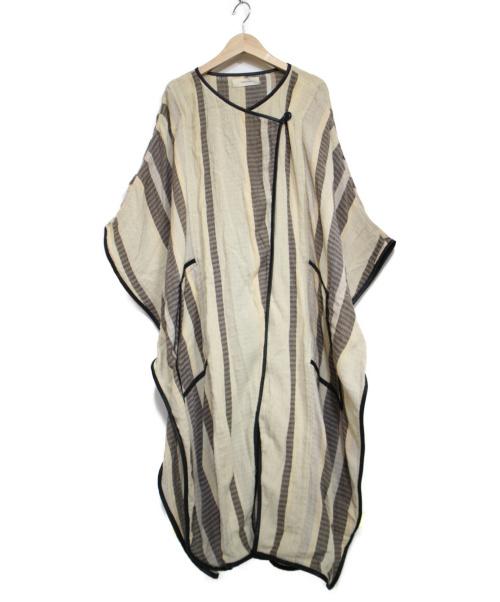 TODAYFUL(トゥデイフル)TODAYFUL (トゥデイフル) ジャガードパイピングガウン ベージュ サイズ:36の古着・服飾アイテム
