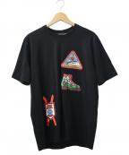 LOVE MOSCHINO(ラブモスキーノ)の古着「プリントTシャツ」 ブラック