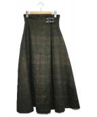 ONEIL OF DUBLIN(オニールオブダブリン)の古着「ウールラップスカート」|オリーブ