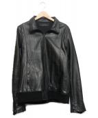 Shama(シャマ)の古着「シングルレザージャケット」|ブラック