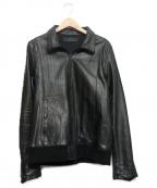 Shama(シャマ)の古着「シングルレザージャケット」 ブラック