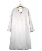 ELENDEEK(エレンディーク)の古着「V NECK LONG COAT」|グレー