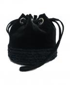 LUDLOW(ラドロー)の古着「ベロア巾着バッグ」 ブラック