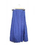 ONEIL OF DUBLIN(オニール オブ ダブリン)の古着「アコーディオンプリーツスカート」|ブルー