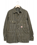 HEADLIGHT(ヘッドライト)の古着「BROWN HICKORY WORK COAT」 ブラウン
