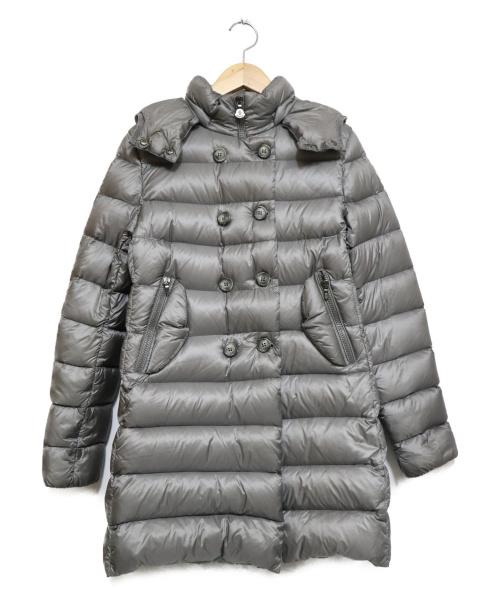 MONCLER(モンクレール)MONCLER (モンクレール) ダウンPコート グレー サイズ:12XYの古着・服飾アイテム