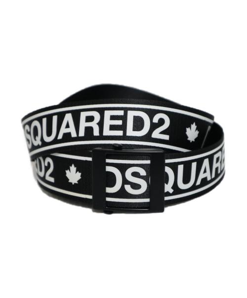DSQUARED2(ディースクエアード)DSQUARED2 (ディースクエアード) ロゴベルト ブラックの古着・服飾アイテム