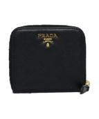 PRADA(プラダ)の古着「ラウンドファスナー二つ折り財布」|ブラック