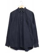 COMOLI(コモリ)の古着「コットンネルコモリシャツ」|ネイビー