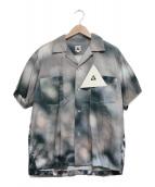 The Mongolian Choppsss(ザモンゴリアンチョップス)の古着「Open Collar Shirts ギザ十」|グレー