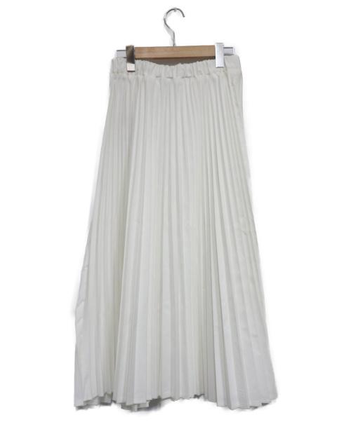 urvin(アービン)URVIN (アービン) プリーツデニムスカート ホワイト サイズ:1 未使用品の古着・服飾アイテム