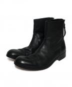 PADRONE(パドローネ)の古着「バックジップブーツ」 ブラック