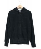 ()の古着「総柄ジャガードパーカー」|ブラック