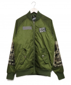 LEFLAH(レフラー)の古着「MA-1ジャケット」|カーキ