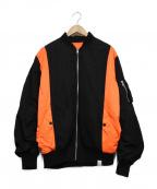 MAGIC STICK(マジックスティック)の古着「MA-1ジャケット」 ブラック×オレンジ