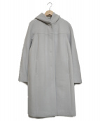 TOMORROW LAND(トゥモローランド)の古着「メルトンフーデッドコート」|グレー