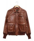 TMT(ティーエムティー)の古着「A-2ゴートレザージャケット」|ブラウン