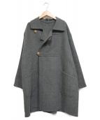 45rpm(フォーティファイブアールピーエム)の古着「メリノ二重織ハーフコート」|グレー
