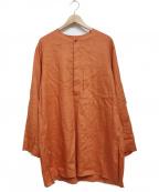 UNFIL(アンフィル)の古着「washed linen-weather khurta」|オレンジ