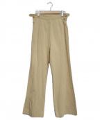 Little suzie(リトルスージー)の古着「Side Slit Flare Pants」 ベージュ