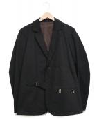 FRANK LEDER(フランクリーダー)の古着「デザインテーラードジャケット」|ブラック