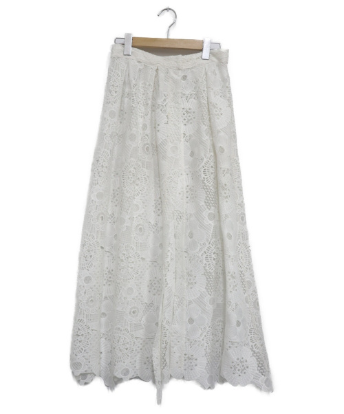 Luana(ルアナ)LUANA (ルアナ) レースロングスカート ホワイト サイズ:表記なしの古着・服飾アイテム