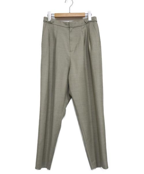 HUMAN WOMAN(ヒューマンウーマン)HUMAN WOMAN (ヒューマンウーマン) WRサキソニーパンツ ベージュ サイズ:M 20AWの古着・服飾アイテム
