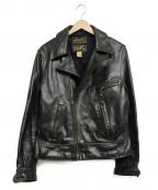 CUSHMAN(クッシュマン)の古着「ホースハイドダブルライダースジャケット」|ブラック