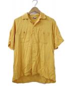 ()の古着「バックプリントオープンカラーシャツ」 イエロー