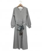 JILL BY JILLSTUART(ジルバイジルスチュアート)の古着「スカーフ付ニットワンピース」|ライトグリーン