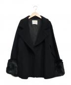 LAGUNA MOON(ラグナムーン)の古着「ペスカラムコクーンショートコート」|ブラック