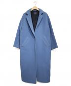 sophila(ソフィラ)の古着「FAbRICA セットインチェスターウールコート」|ブルー