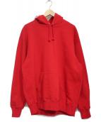 Supreme(シュプリーム)の古着「Rib Hooded Sweat Shirt」|レッド