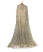 furfur(ファーファー)の古着「フラワー刺繍チュールワンピース」|グレー