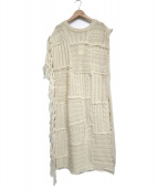 AkariH(アカリ)の古着「ニットワンピース」|ホワイト