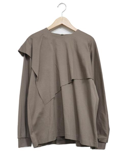 RIM.ARK(リムアーク)RIM.ARK (リムアーク) Layered cut tops ベージュ サイズ:FREE 20SSの古着・服飾アイテム