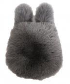 LUDLOW(ラドロー)の古着「FOXファーハンドバッグ」 グレー