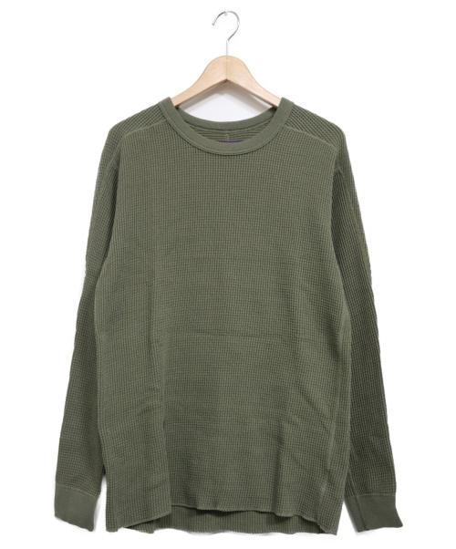 THE NORTHFACE PURPLELABEL(ザノースフェイスパープルレーベル)THE NORTHFACE PURPLELABEL (ザノースフェイスパープルレーベル) Crew Neck Thermal Shirt カーキ サイズ:Mの古着・服飾アイテム
