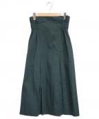DESIGNWORKS(デザインワークス)の古着「ギャバジンカラースカート」|グリーン