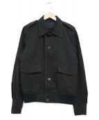 PRADA(プラダ)の古着「エポレットショートジャケット」|ブラック