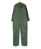 Engineered Garments(エンジニアド ガーメンツ)の古着「COVERALL SUIT REVERSED SATEAN」|カーキ